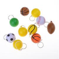 Basketball Football Tennis Golf Ball Keychain Billiards Pinch Ball Keyring  gt