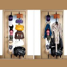 Holder Rack Organizer Storage Door Closet Hanger For Coats & Hats & Bags