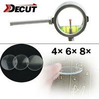 4x 6x 8x Sight Magnifying Glass Lens 34mm Archery Compound Bow Decut RAINBOW F2