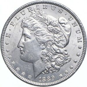 Early - 1889 Morgan Silver Dollar - 90% US Coin *878