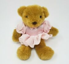 "9"" VINTAGE RUSS BROWN TEDDY BEAR PINK BALLERINA DRESS STUFFED ANIMAL PLUSH TOY"