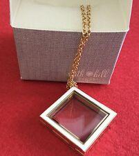 South Hill Designs Gold Tone Diamond Locket With White Enamel
