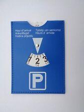 Parkscheibe Parken Auto KFZ Lederoptik Blau Flexibel 11 x 15cm Parkuhr NEU!!!