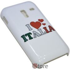 Cover Per Samsung Galaxy Ace Plus S7500 I Love Italia rigida