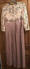 Little Mistress Maternity Dress Size 14 Lace Full Length