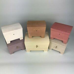Large Engraved LOCKABLE Wooden Painted Trinket Keepsake Box Lock & Key Boxes