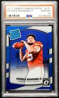"2017 Donruss Optic PSA 10 GEM MINT Patrick Mahomes Rookie #177 ""Flawless"" Chiefs"