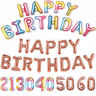 Foil Happy Birthday Bunting Banner Balloons 21st/16/18//30/40/50/60 Party Decor