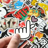 50Pcs Kids Graffiti Stickers Laptop Suitcase Phone Car Bike Motorcycle Decals