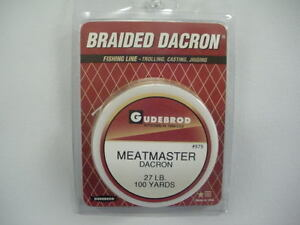 Gudebrod Meatmaster Natural/White Braided Dacron 15-96 Lb Test, 100-3,000 Yds