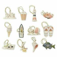 Lenox Summer Beach Mini Miniature Tree Ornaments Set of 12 New but Please Read!