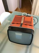 TELEVISORE TV Vintage BRIONVEGA ALGOL 11 ZANUSO SPACE 70 arancione TELEVISIONE
