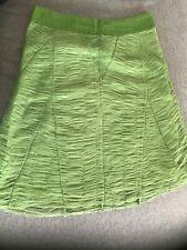 Lime Green Mango Summer Skirt With Tulle UK 14 - 16 EU 44 - A-line Knee Length