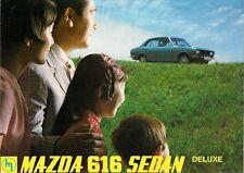 Mazda 616 Deluxe Saloon 1971 UK Market Foldout Sales Brochure