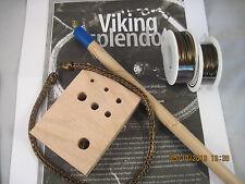 VIKING KNIT Necklace KIT & INSTRUCTIONS, Vintage Bronze WIRE #0