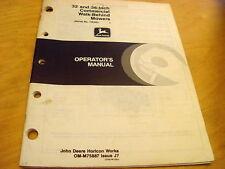 "John Deere 32"" 36"" Commercial Mower Operator's Manual"