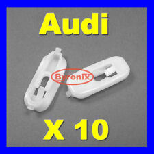 AUDI A4 S4 LOWER DOOR BOTTOM STRIP MOULDING TRIM CLIPS WHITE PLASTIC X 10