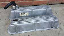 """""""Powered By Ford"""" Valve Covers Ford Mustang 289 302 V8 SBF Original"""