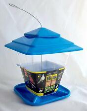 New listing Stokes Square Hopper Bird Feeder #50120 Blue plastic Outdoor Wild Birdseed
