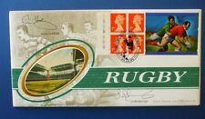 Benham 1999 RUGBY commémorative étiquette FDC signée par Gavin et Scott Hastings