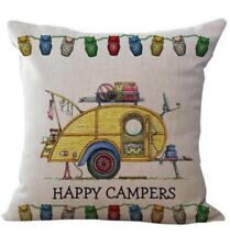 Yellow Camper Van cushion cover 18' x18'