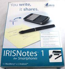 New Specs IRISNotes 1 for Smartphones Digital Pen Bluetooth For Blackberry