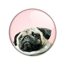 Badge PETIT CHIEN french BOULEDOGUE 02 boudeur français pink fun boho pins Ø25mm