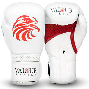 White Boxing Gloves 8oz 10oz 12oz 14oz 16oz Punch Sparring Fight MMA Muay Thai