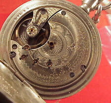 VINTAGE 18s MODEL 3 SETH THOMAS TEMPERATURE POSITIONS POCKET WATCH RUNNING