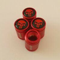 THE PUNISHER METAL SPORTS Valve Dust caps all Cars 7 COLORS UK DISPATCH