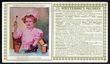 Little Girl Polishes Mamma's Shoes With Whittemore's Polishes~Early Ink Blotter