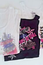Three (3) hannah montana tank tops shirts juniors 7/9 nwot