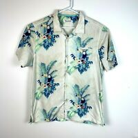 Tommy Bahama Button Up Silk Short Sleeve Shirt Men's Size Large