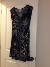 Maggy London Black/Silver Ladies dress size 8