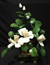 "13"" White Jade Bonsai Flowers (202-3a) - On Sale"
