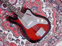 1960S VINTAGE KENT BASIN STREET BASS GUITAR  MODEL 534