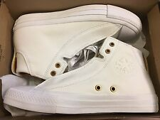 NEW CONVERSE CT ALPHA MID WHITE LEATHER SNEAKER 153114C WHITE SIZE MEN 7 WOMEN 9