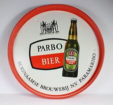 "VINTAGE PARBO BIER SERVING TRAY * DUTCH BEER FROM SURINAME *11 1/2"" DIAMETER"