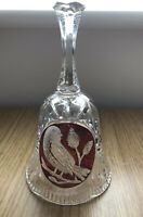 "Hofbauer The Ruby Byrdes Collection 6"" Crystal Bell Red Birds NO CHIPS OR CRACKS"