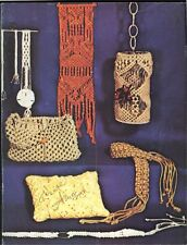 Macrame the Easy Way Patterns Belt Hanging Pillow Jewelry Collar Bell Pull Purse