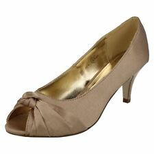 Ladies Anne Michelle Knot Detail Peep Toe Court 'Shoe'