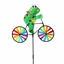 Set Of 2X Frog,Lady Bug Bicycle Windmill Wind Spinner Home Garden Decor