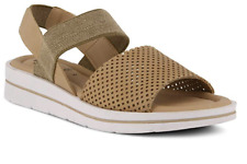 SPRING STEP Travel Ankle Stretch Straps Beige Sandals cushioned innersoles, lite