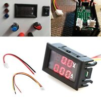 DC 0-100V 10A Dual Digital LED Voltmeter Ammeter Voltage AMP Power Car Monitor