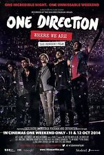 0594 Vintage Arte Cartel De Música-concierto de One Direction la película