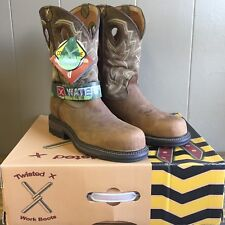 Men's Waterproof Twisted X Lite Cowboy WP Safety Boots, Size 12 MLCCW02