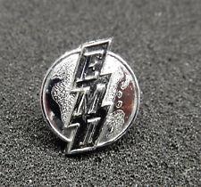 More details for vintage emi logo. original metal equipment badge.