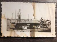 Photo Tractor Farm Vintage