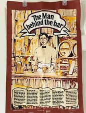 "Irish Shannon Linen Bar Towel Guinness, The Man Behind The Bar 20"" X 29"" New"