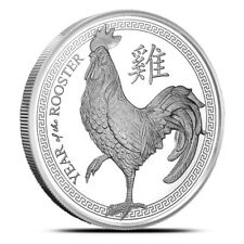 2017 Chinese Zodiac Year Of The Rooster 1 oz Silver USA BU Round Bullion Coin